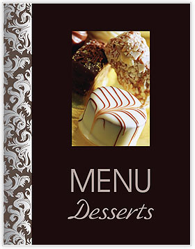 Desserts Menu Template & Design ID 0000002058 - SmileTemplates.com