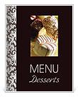 Desserts Menu en maaltijd kaarten