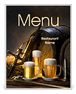 Old Beer Menu Template