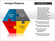 Puzzle-Hexagon PPT Diagrams & Charts