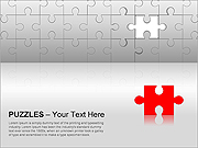Puzzles Wall PPT Diagrams & Charts