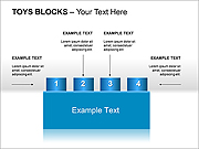 Toys Blocks PPT Diagrams & Chart