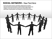 Social Network PPT Diagrams & Chart