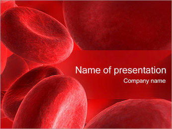 Blood Cells Sjablonen PowerPoint presentatie
