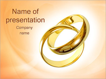 Two Wedding Ring PowerPoint Template