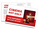 Movie Time Postcard Template