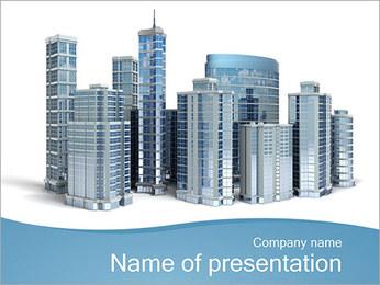 Centro de Negócios Modelos de apresentações PowerPoint - Slide 1