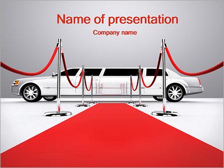 Limo et tapis rouge Modèles des présentations  PowerPoint