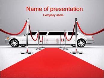 Limo et tapis rouge Modèles des présentations  PowerPoint - Diapositives 1