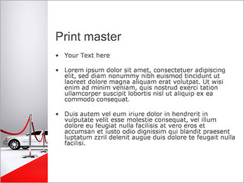 Limo et tapis rouge Modèles des présentations  PowerPoint - Diapositives 24