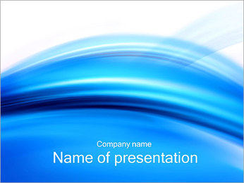 Blue Abstract Composition PowerPoint Template