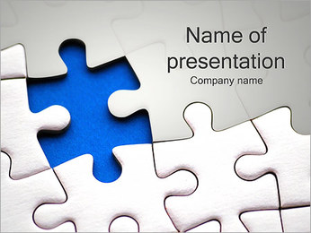 Jigsaw Puzzle Abstract PowerPoint Template