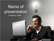 Businessman Having an Idea PowerPoint Templates