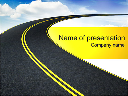 Road To Sky PowerPoint Template Backgrounds Google Slides ID