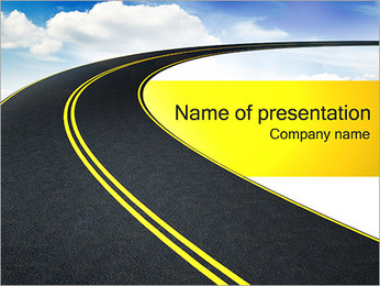 Road to Sky PowerPoint Template