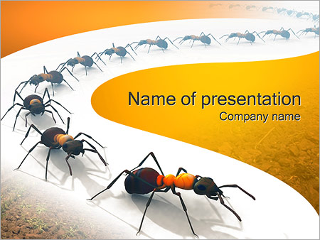 Insect powerpoint template smiletemplates free download ants colony powerpoint templates toneelgroepblik