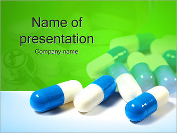Pills on Green PowerPoint Template