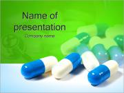 グリーン上の丸薬 PowerPointプレゼンテーションのテンプレート