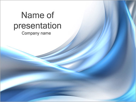 Silver And Blue Waves PowerPoint Template Backgrounds Google