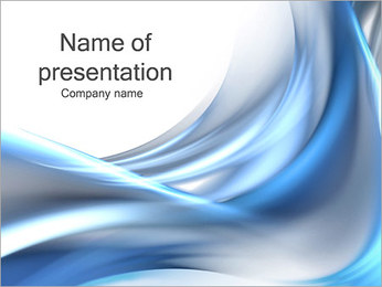 Silver and Blue Waves PowerPoint Template