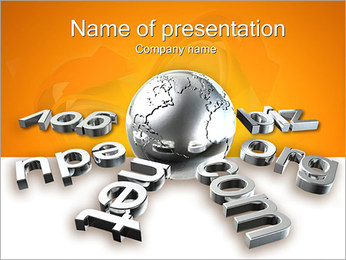Internet Domains PowerPoint Template
