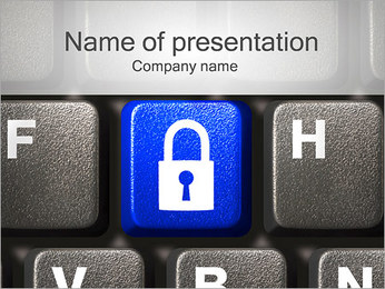 Security Key PowerPoint Template - Slide 1
