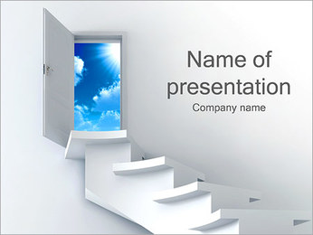 Stairway to Sky PowerPoint Template