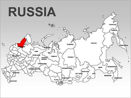 Russia Maps for PowerPoint - download at SmileTemplates.com