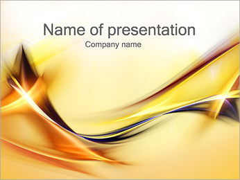 Golden Lines PowerPoint Template