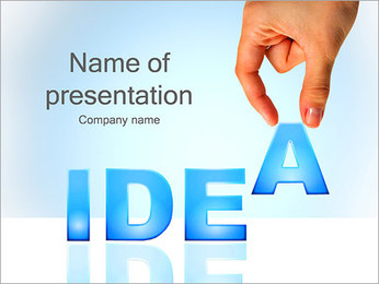 Idea Word PowerPoint Template