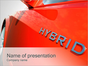 Гибридный автомобиль Шаблоны презентаций PowerPoint