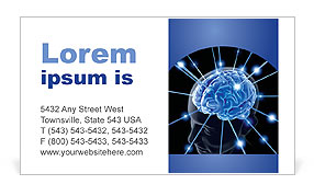 Human Brain Business Card Template