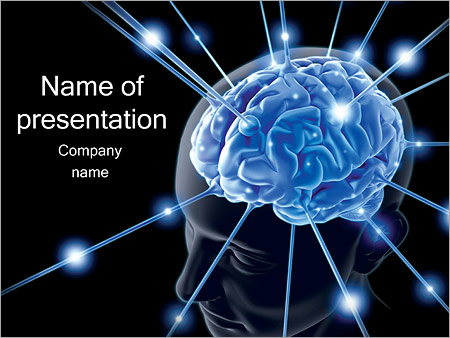 human brain powerpoint template  backgrounds id, Templates