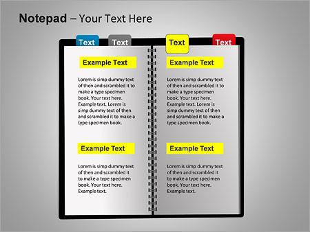 Блокнот Схемы и диаграммы для PowerPoint - Слайд 12