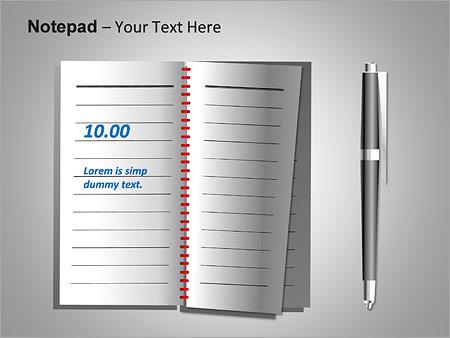 Блокнот Схемы и диаграммы для PowerPoint - Слайд 15