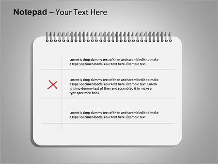 Блокнот Схемы и диаграммы для PowerPoint - Слайд 3