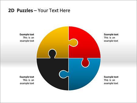 2D - Пазлы Схемы и диаграммы для PowerPoint