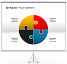 2D - Puzzles PPT Diagrams & Chart