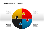 2D - Puzzles PPT Diagrams & Charts