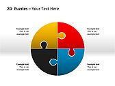 2D - Пазлы Схемы и диаграммы для PowerPoint - Слайд 1