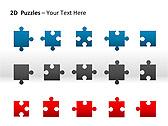 2D - Пазлы Схемы и диаграммы для PowerPoint - Слайд 14