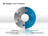 2D - Пазлы Схемы и диаграммы для PowerPoint - Слайд 3