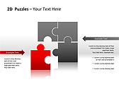 2D - Пазлы Схемы и диаграммы для PowerPoint - Слайд 6