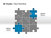 2D - Пазлы Схемы и диаграммы для PowerPoint - Слайд 7