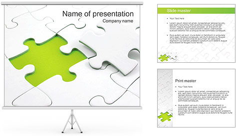 White Puzzle PowerPoint Template Backgrounds ID 0000002128 – Puzzle Powerpoint Template