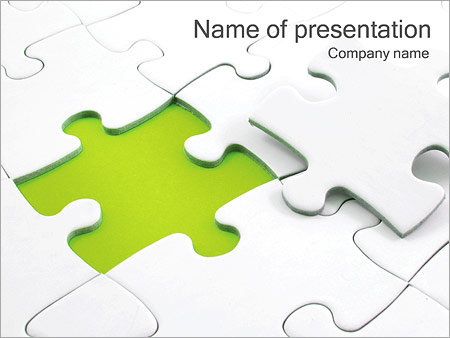 White Puzzle Powerpoint Template  Backgrounds Id
