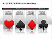 Playing Cards PPT Diagrams & Chart