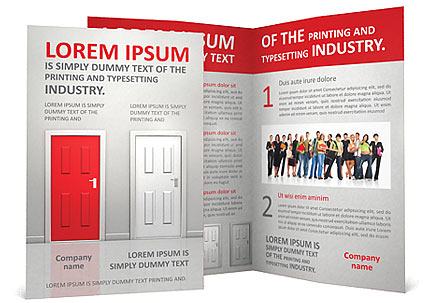 Red Door Brochure Template  sc 1 st  SmileTemplates.com & Red Door Brochure Template \u0026 Design ID 0000002137 - SmileTemplates.com