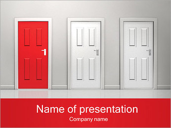 Red Door Sjablonen PowerPoint presentatie