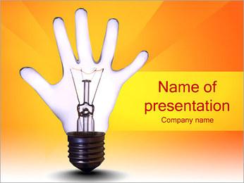 Lâmpada Mão Modelos de apresentações PowerPoint